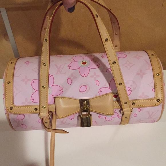1277ab54331c Louis Vuitton Murakami Papillon cherry blossom bag